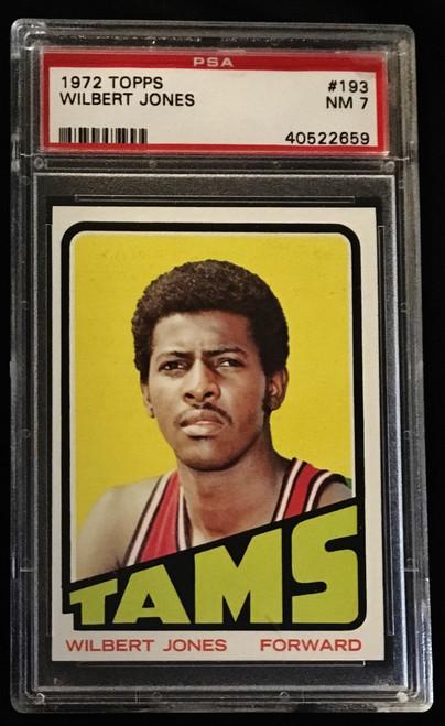 1972 Topps #193 Wilbert Jones PSA 7