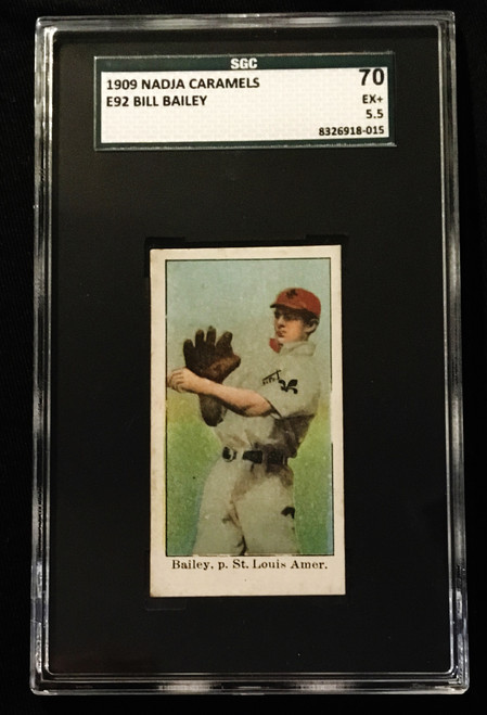 1909 E92 Nadja Caramels Bill Bailey SGC 5.5