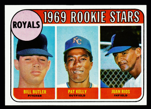 1969 Topps #619 Royals Rookie Stars NMMT