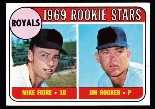 1969 Topps #376 Royals Rookie Stars NM