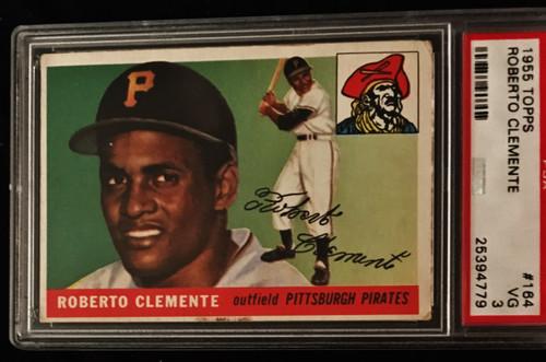 1955 Topps #164 Roberto Clemente RC PSA 3