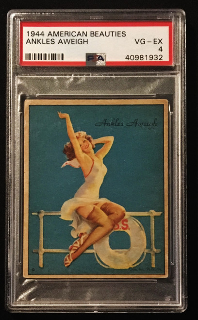 1944 Gum Inc. American Beauties Ankles Aweigh PSA 4