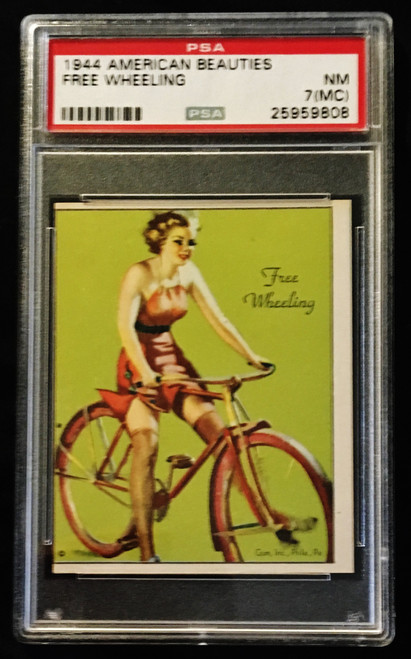 1944 Gum Inc. American Beauties Free Wheeling PSA 7 MC