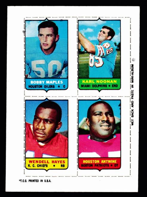 1969 Topps 4 in 1 Maples Noonan Hayes Antwine Fair