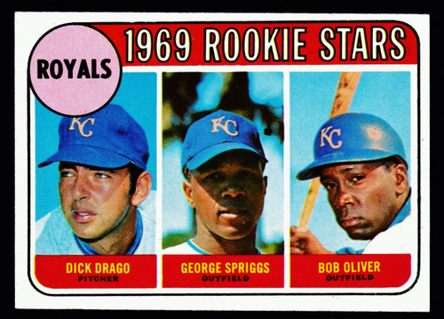 1969 Topps #662 Royals Rookie Stars EXMT