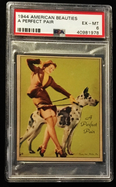 1944 Gum Inc. American Beauties A Perfect Pair PSA 6