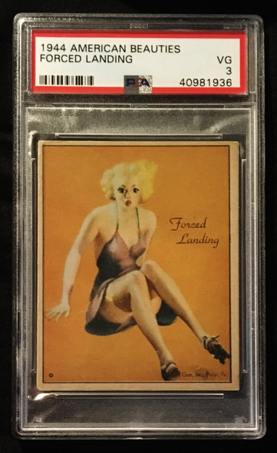 1944 Gum Inc. American Beauties Forced Landing PSA 3