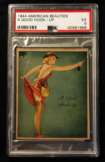 1944 Gum Inc. American Beauties A Good Hook-Up PSA 5