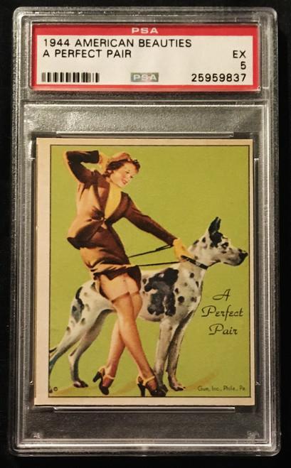 1944 Gum Inc. American Beauties A Perfect Pair PSA 5