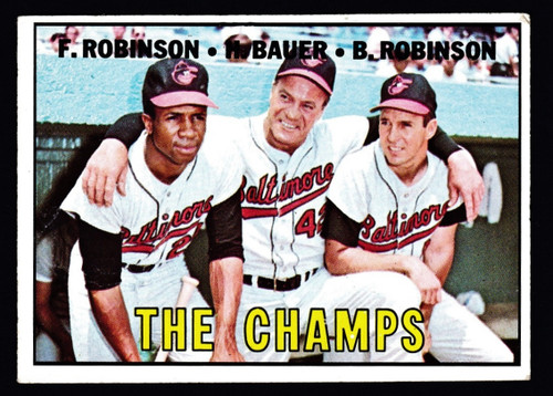 1967 Topps #001 The Champs Frank Brooks Robinson VGEX