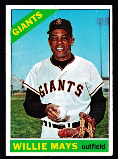 1966 Topps #001 Willie Mays Poor