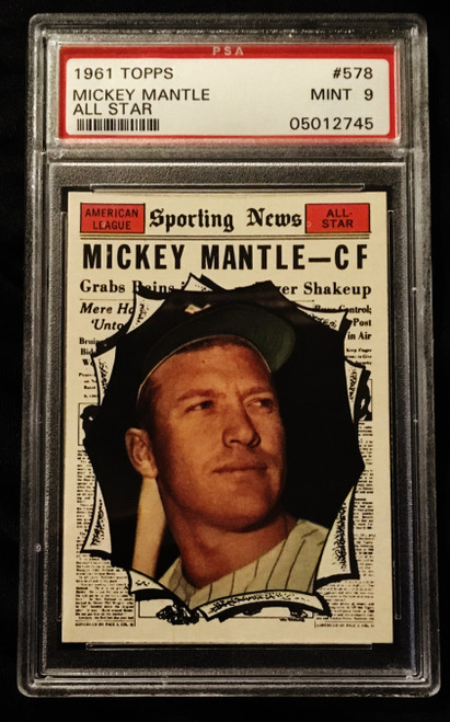 1961 Topps #578 Mickey Mantle AS PSA 9