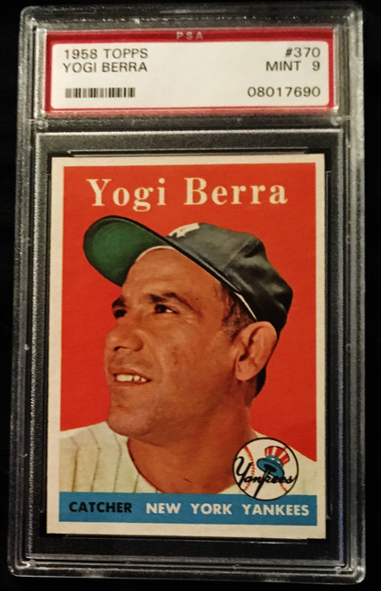 1958 Topps #370 Yogi Berra PSA 9
