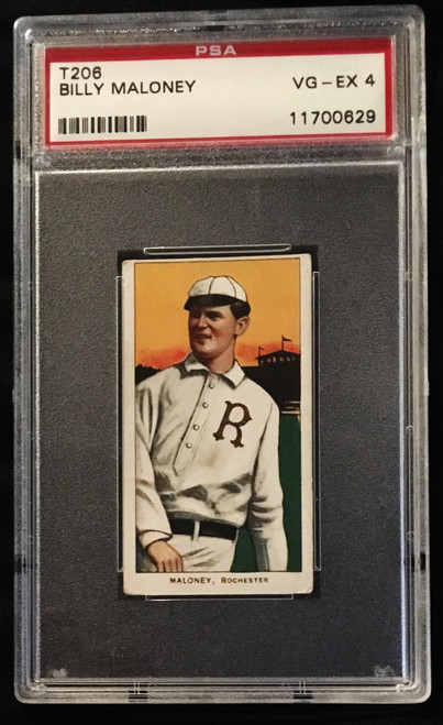 1909-1911 T206 Billy Maloney Piedmont PSA 4