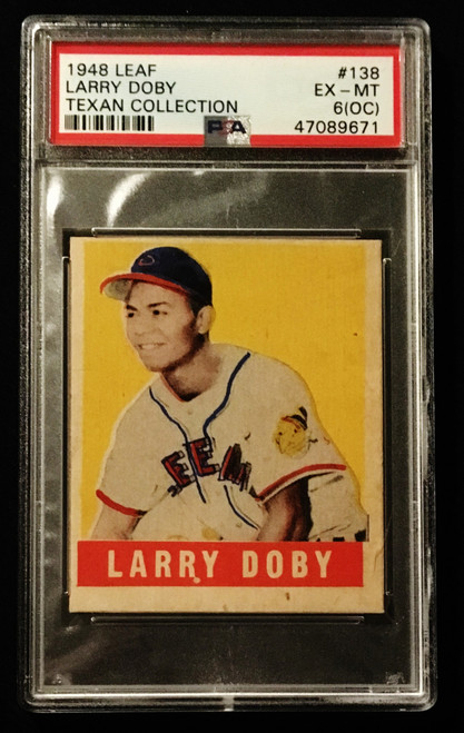1948 Leaf #138 Larry Doby RC SP PSA 6 OC