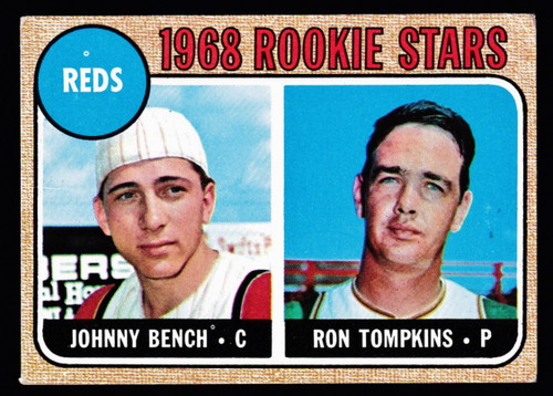 1968 Topps #247 Johnny Bench RC GD