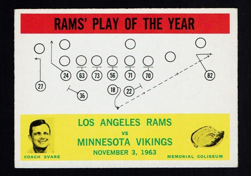 1964 Philadelphia #098 Rams Play EX
