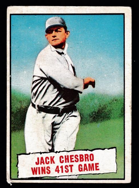 1961 Topps #407 Baseball Thrills Jack Chesbro Wins 41st Game Poor