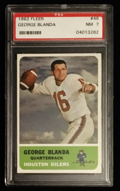 1962 Fleer #46 George Blanda PSA 7