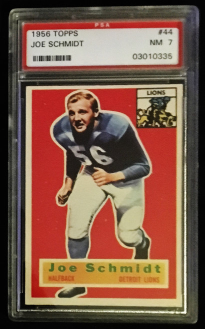 1956 Topps #044 Joe Schmidt RC PSA 7