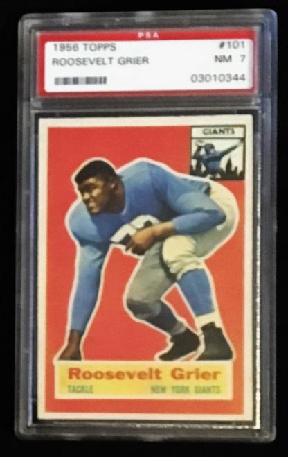 1956 Topps #101 Roosevelt Grier PSA 7