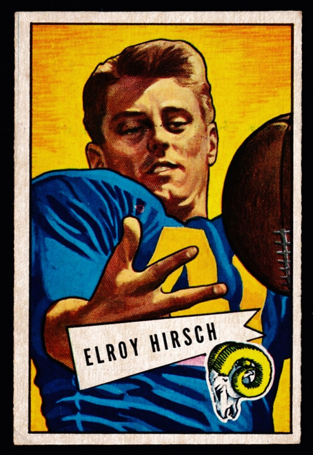 1952 Bowman Small #037 Elroy Hirsch VGEX