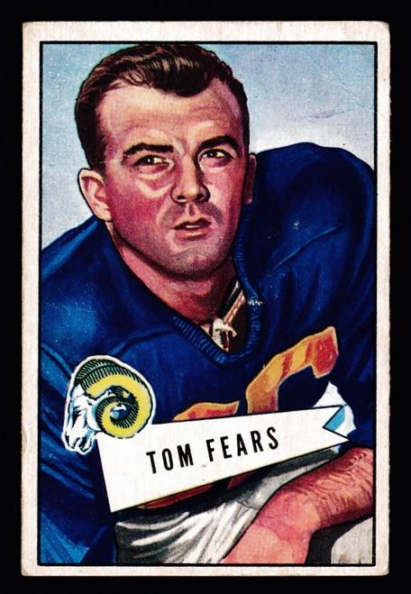 1952 Bowman Small #013 Tom Fears Fair
