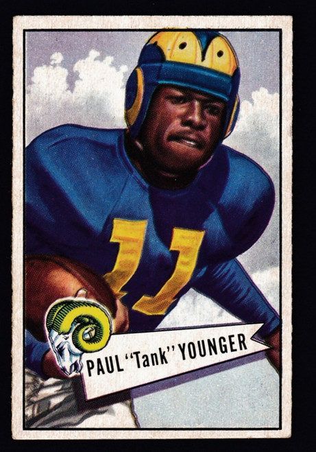 """1952 Bowman Small #025 Paul """"Tank"""" Younger EX-"""