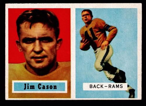 1957 Topps #143 Jim Cason RC EX