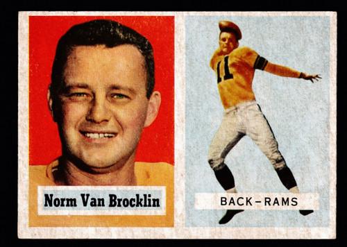 1957 Topps #022 Norm Van Brocklin EX