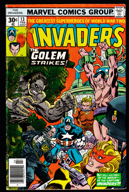 1977 Marvel The Invaders #13 FN-