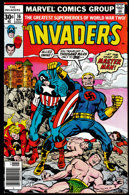 1977 Marvel The Invaders #16 FN