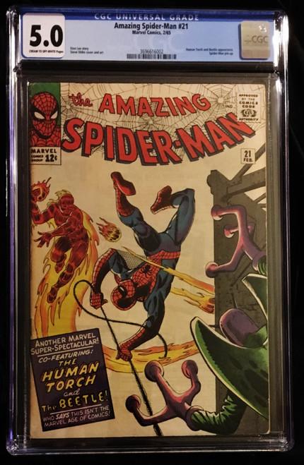 1965 Marvel Amazing Spider-Man #21 CGC 5.0