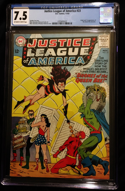 1963 DC Justice League of America #23 CGC 7.5 1st Appearance of the Queen Bee