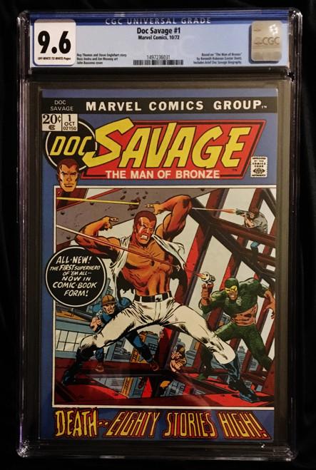 1972 Marvel Doc Savage #1 CGC 9.6