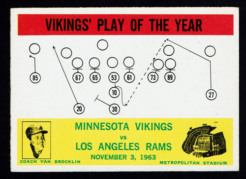 1964 Philadelphia #112 Vikings Play EX-