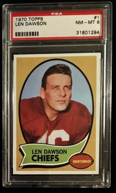 1970 Topps #001 Len Dawson PSA 8
