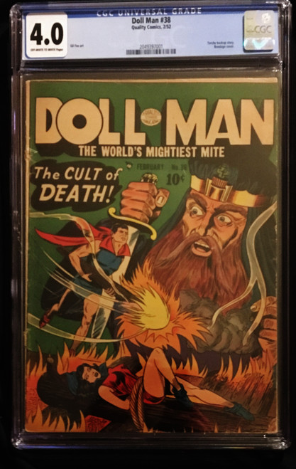 1952 Quality Comics Doll Man #38 CGC 4.0