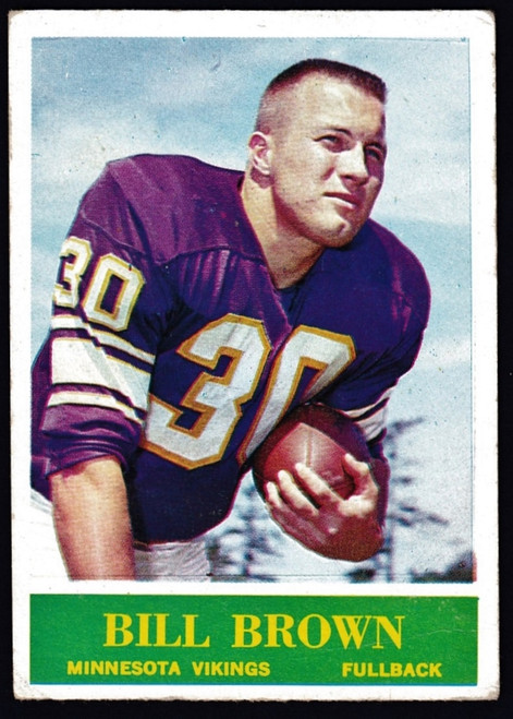 1964 Philadelphia #101 Bill Brown RC GD