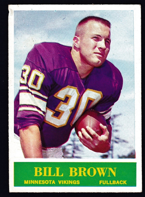 1964 Philadelphia #101 Bill Brown RC VG