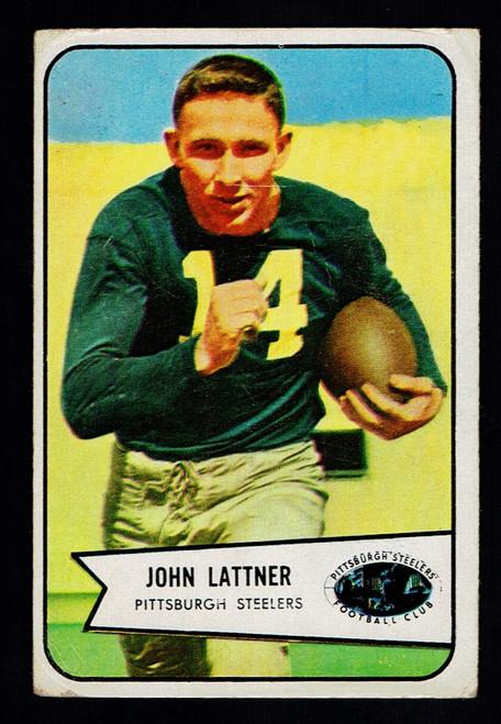 1954 Bowman #128 John Lattner Fair
