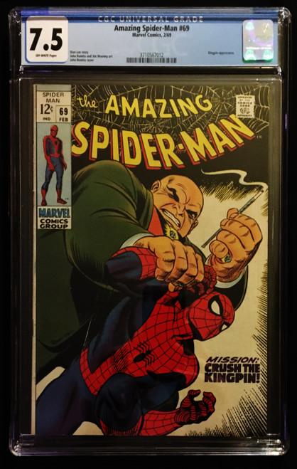 1969 Marvel Amazing Spider-Man #69 CGC 7.5