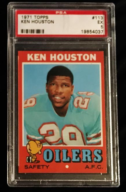 1971 Topps #113 Ken Houston RC PSA 5