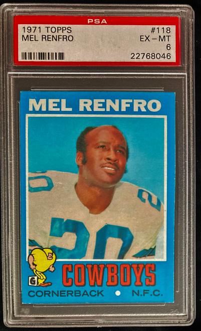1971 Topps #118 Mel Renfro PSA 6