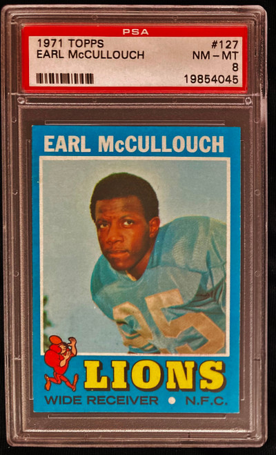 1971 Topps #127 Earl McCullouch PSA 8