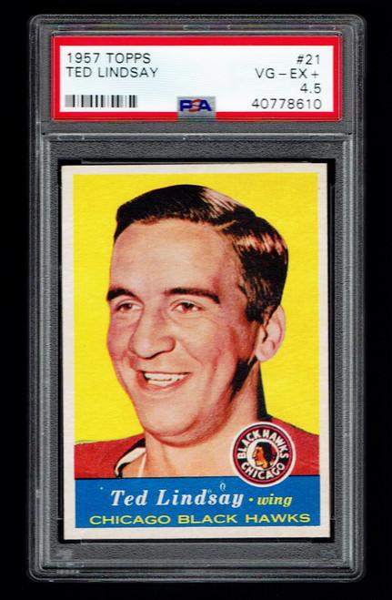 1957 Topps #21 Ted Lindsay PSA 4.5
