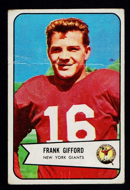 1954 Bowman #55 Frank Gifford Poor