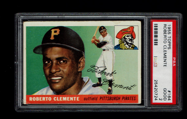 1955 Topps #164 Roberto Clemente RC PSA 2