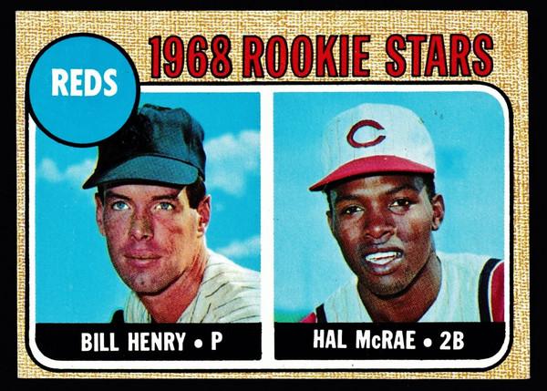 1968 Topps #384 Reds Rookies McRae VGEX