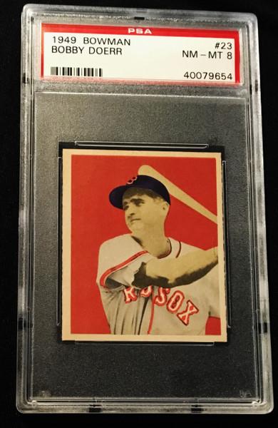 1949 Bowman #023 Bobby Doerr PSA 8